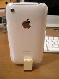 iPhoneとスタンド(裏から)