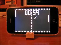 iPhoneとスタンド(横置き)